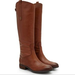 Sam Edelman Leather Penny Riding Boots in Brown 7